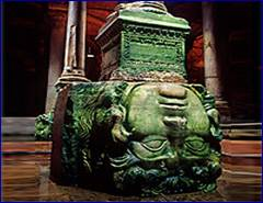 Day 2 - Column decorated with Medusa Head - Underground Cistern - Istanbul